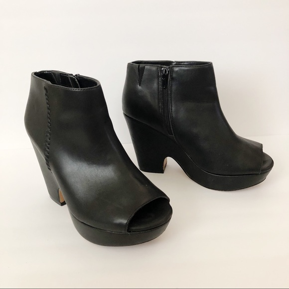 e8e312ce44a4 Torrid Peep Toe Wedge Booties (Wide Width). M 5bf64f3e7386bc11fc23a1e9